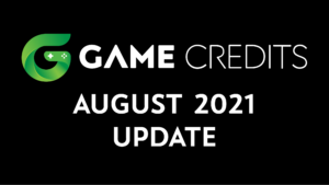 GAME Credits August 2021 Update