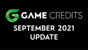 GAME Credits September 2021 Update